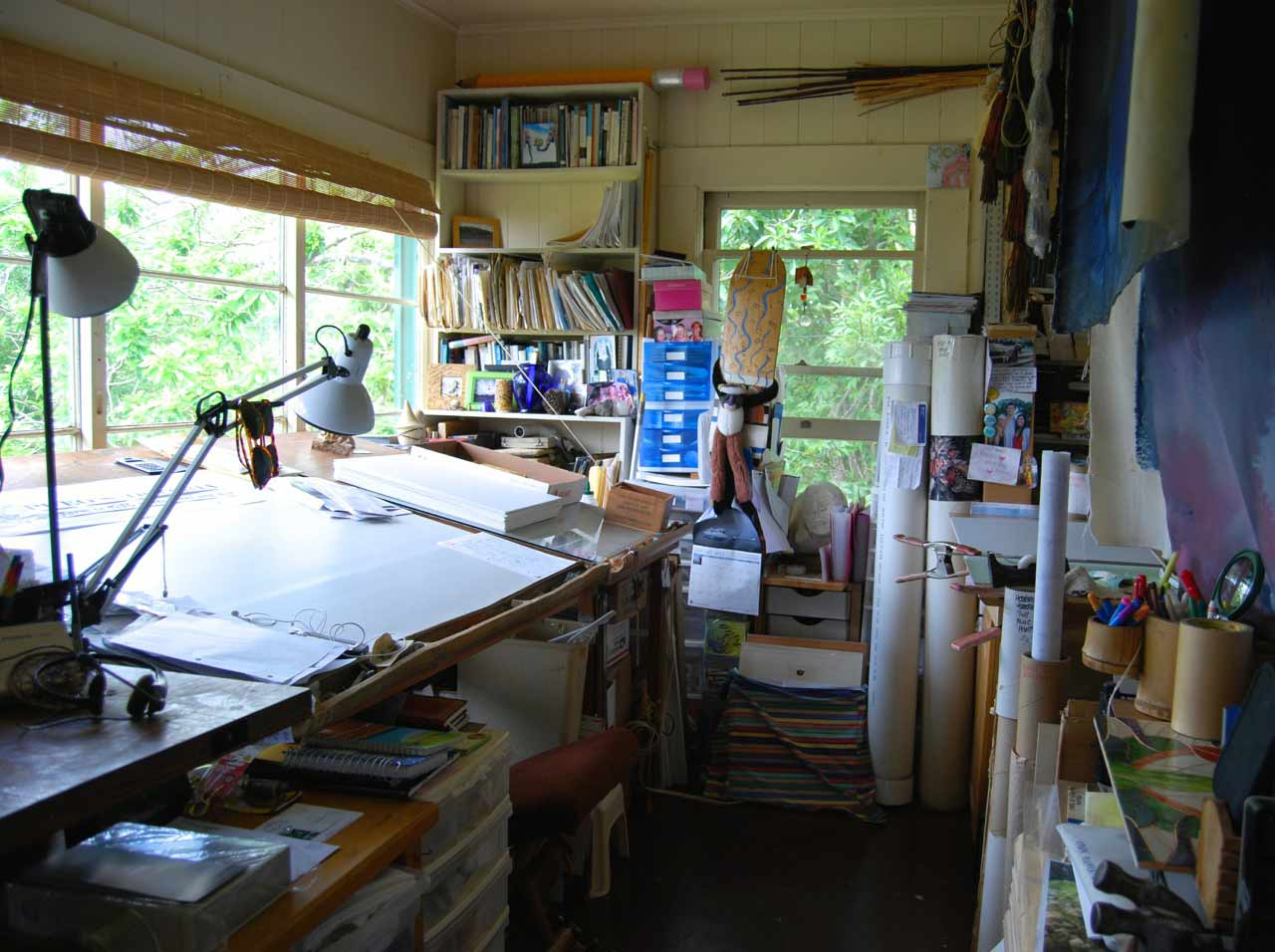 Creative chaos - highly organized studio of Calley O'Neill's