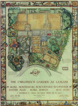 Children's Garden at Lailani Master Plan, 1996, Kona, Hawai'i by Calley O'Neill.